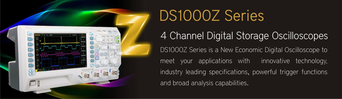 4 Channel Digital Storage Oscilloscope - Rigol DS1000Z