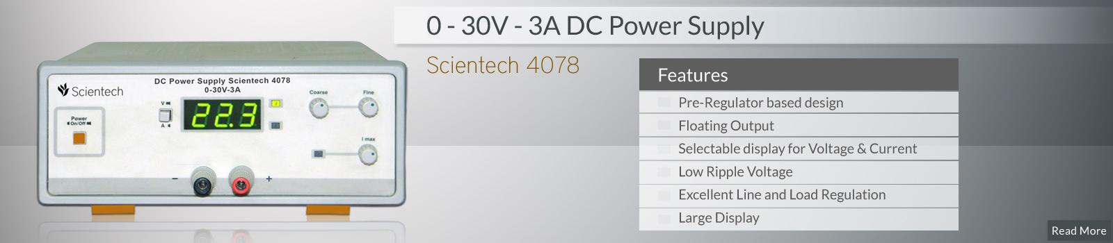 Dc Power Supply Equipment Manufacturer in India - Scientech