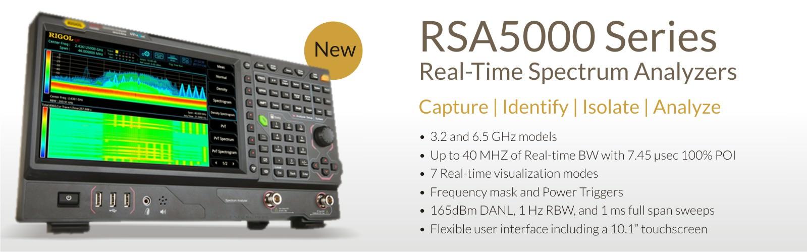 Real Time Spectrum Analyzer RSA 5000 Series