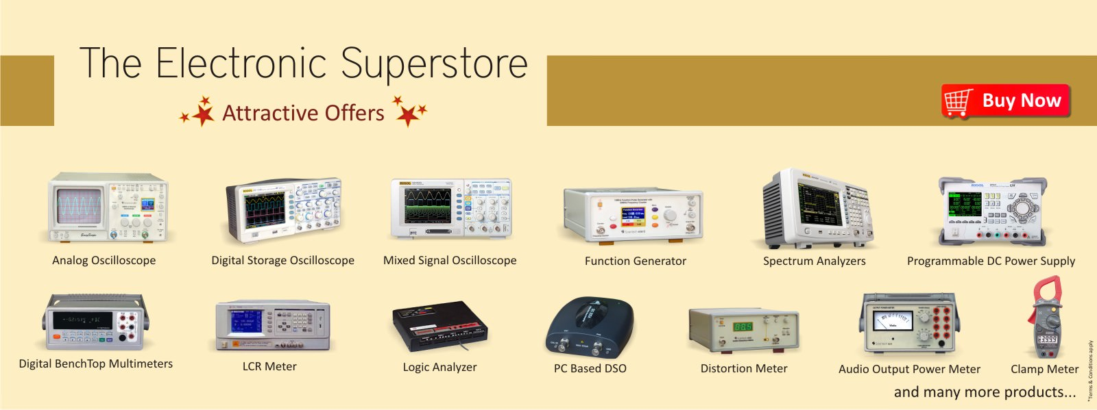 Scientech Oscilloscope, Rigol Digital Oscilloscope, Function Generator, LCR Meter, DC Power Supply Special Offer