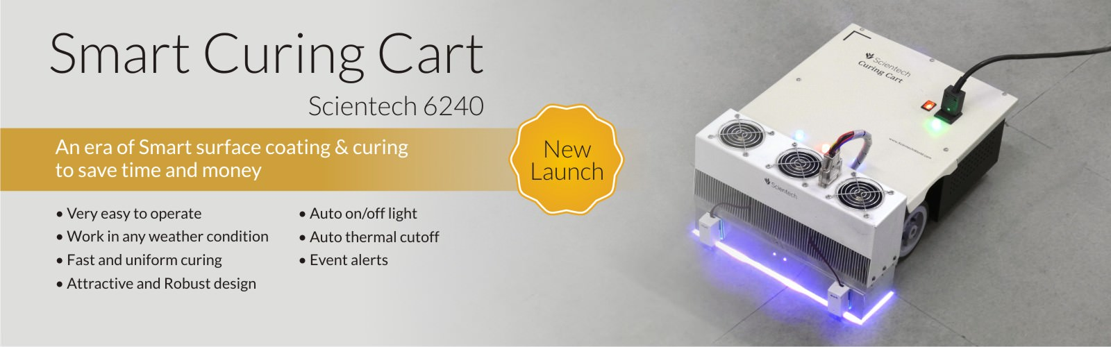 Scientech Smart Curing Cart