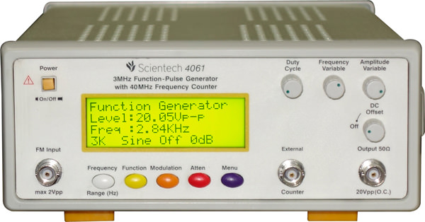 3 MHz AM/FM Function-Pulse Generators with 40MHz Frequency Counter