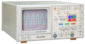 30 MHz Oscilloscope with Color LCD Digital Readout - Scientech Easyscope 801