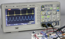 50 MHz Digital Storage Oscilloscope Scientech 401