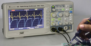 70 MHz Digital Storage Oscilloscope Scientech 402