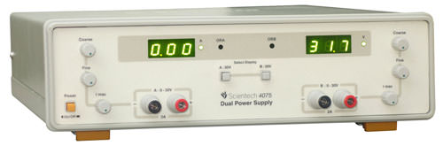 0 - 30V, 2A Dual Power Supply with  Automatic Overload Protection