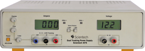 0 - 30V 2A Dual Tracking, 5V 2A Fixed Power Supply Scientech 4076