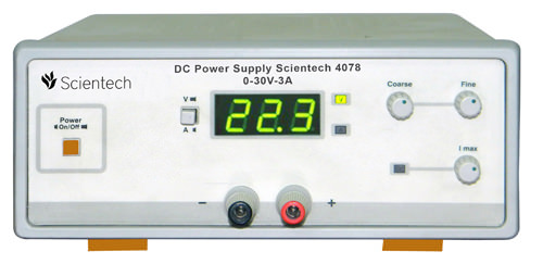 0 - 30V 3A DC Power Supply Scientech 4078