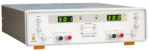 0 - 30V / 3A Dual Power Supply with  Automatic Overload Protection