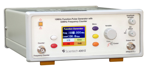 10MHz Function-Pulse Generator with 50MHz Frequency Counter