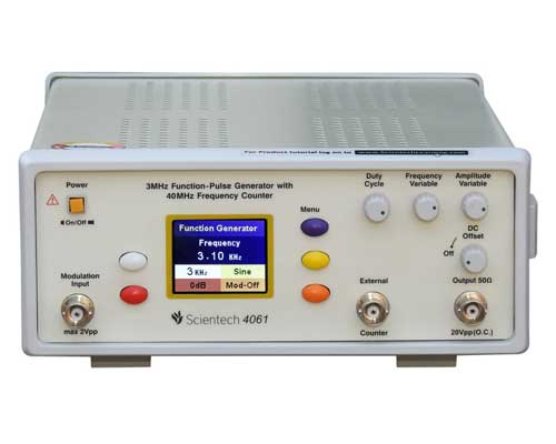 3/10MHz AM/FM Function-Pulse Generators with 40MHz Frequency Counter