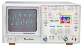 30 MHz Oscilloscope with Color LCD Digital Readout and Component Tester - Scientech 801C