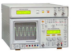 30 MHz Oscilloscope with Function Generator and Power Supply