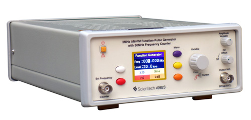 3MHz AM-FM Function-Pulse Generator with 50MHz Frequency Counter