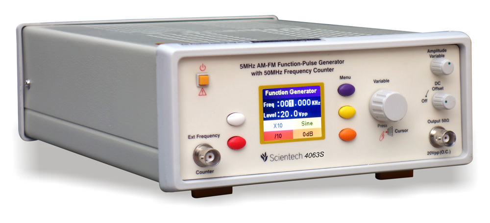 5MHz AM-FM Function-Pulse Generator with 50MHz Frequency Counter