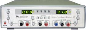 0 - 30V 2A 15V 1A Tracking, 5V 2A Multiple DC Power Supply Scientech 4077