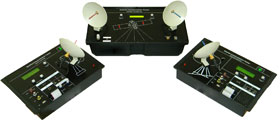 Satellite Communication Uplink Transmitter, Downlink Receiver and Transponder