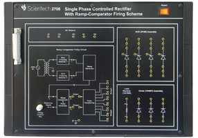 Single Phase Controlled Rectifier with Ramp Comparator Firing Scheme
