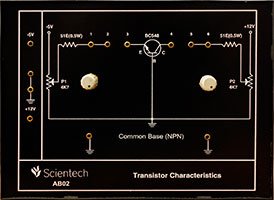 Common Base NPN Transistor Characteristics