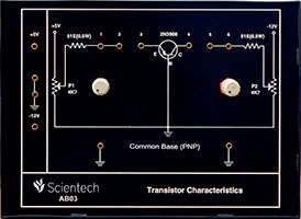 Common Base PNP Transistor Characteristics