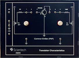 Common Emitter PNP Transistor Characteristics