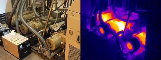Spot overheating pumps/motors