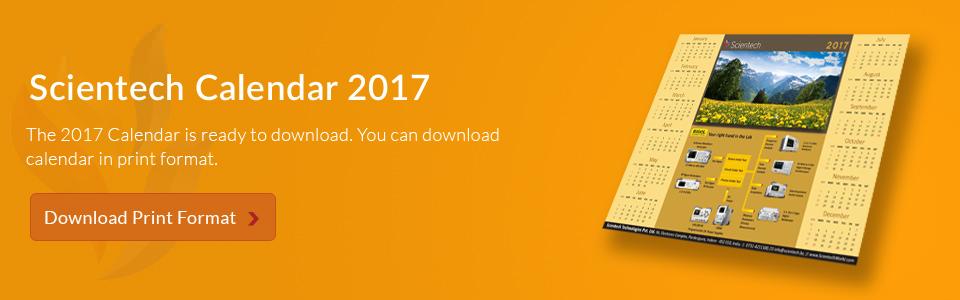 Scientech Calendar 2017
